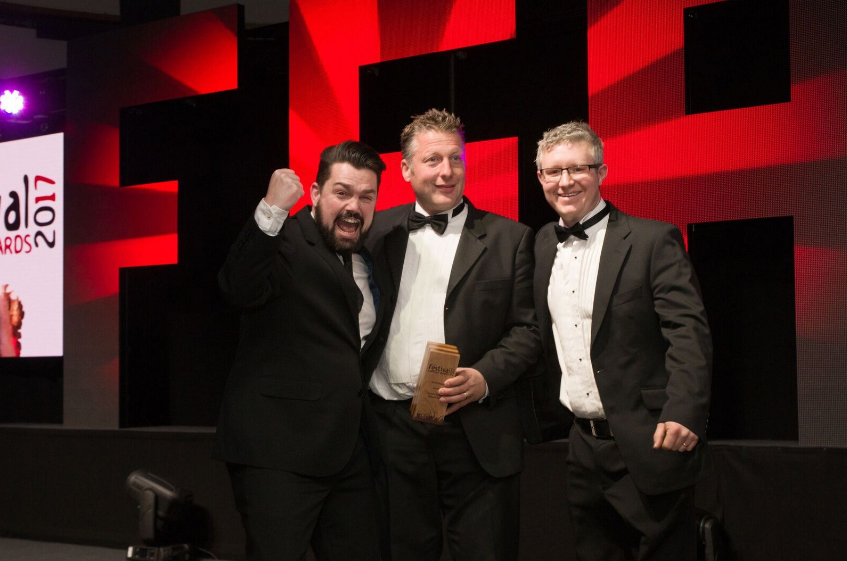 MD Andy Nutter and Event Electrical Manager James Pashley proudly received the award.